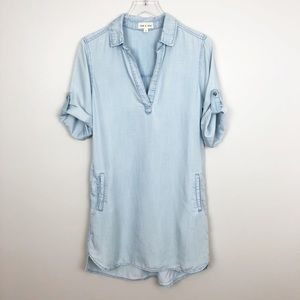Anthropologie | Cloth & Stone Chambray Dress XS
